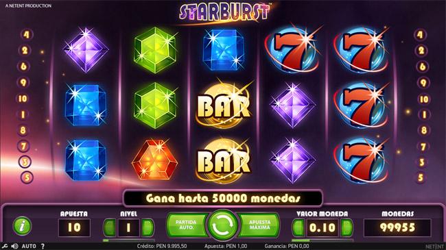 Casino Betsson Perú - Starburtst Tragamoneda